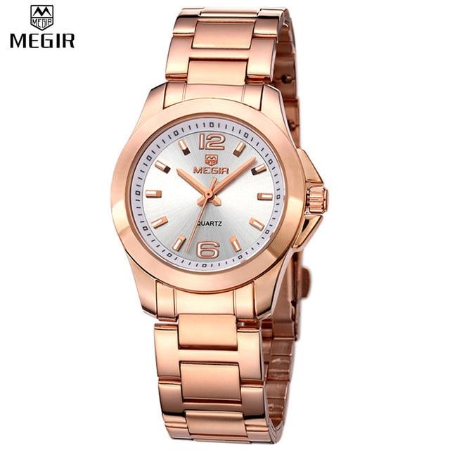 MEGIR Official 2017 Lovers Quartz Watch Watches Women Luxury Brand Couple Leather Strap Dress Wristwatch Couple Relogio Feminino