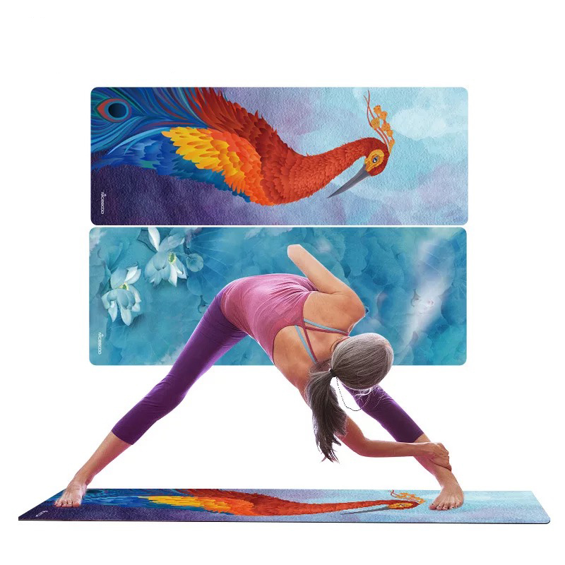 178CM*61CM*3MM Natural Rubber Environmental Protection Suede Fabric Comfortable Non-Slip Exercise Mat Fitness Yoga Mat more longer new style 183cm 68cm 5mm natural rubber non slip tapete yoga gym mat lose weight exercise mat fitness yoga mat