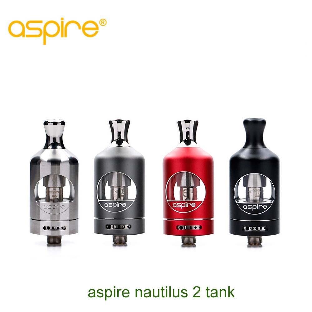 Aspire Nautilus 2 Tank 2ml Atomizer Capacity Top Filling E Cigarettes Bottom Airflow Preinstalled Nautilus BVC Coils