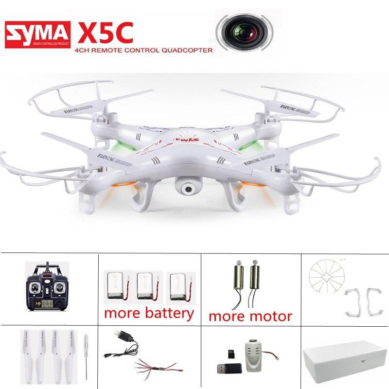 Drone d'origine Syma X5c avec caméra Drone Mode sans tête hélicoptère Rc quadrirotor caméra volante Drone télécommande Drone jouets
