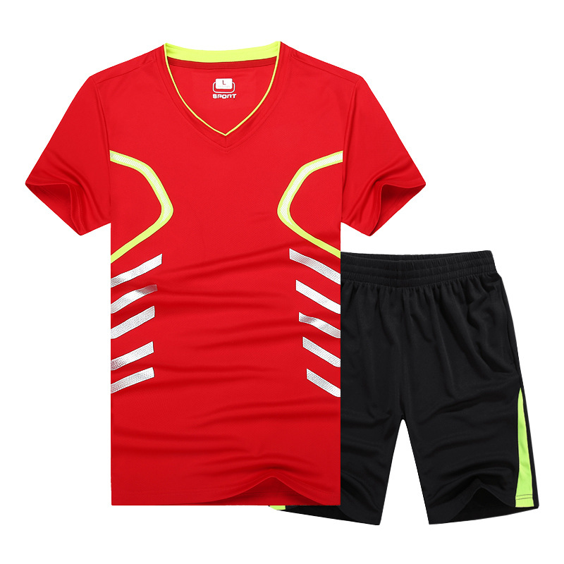 Hot New Casual Men Quick Dry Sportswear T-shirt Sporting Suit T Shirt Men Tracksuit Sets Plus Size 6xl 7xl 8xl 9xl Refreshing And Beneficial To The Eyes