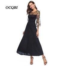627a4a582d5 OCQBI Plus Size 2018 Women Summer Vintage Floral Embroidery Vestidos Party  Dress