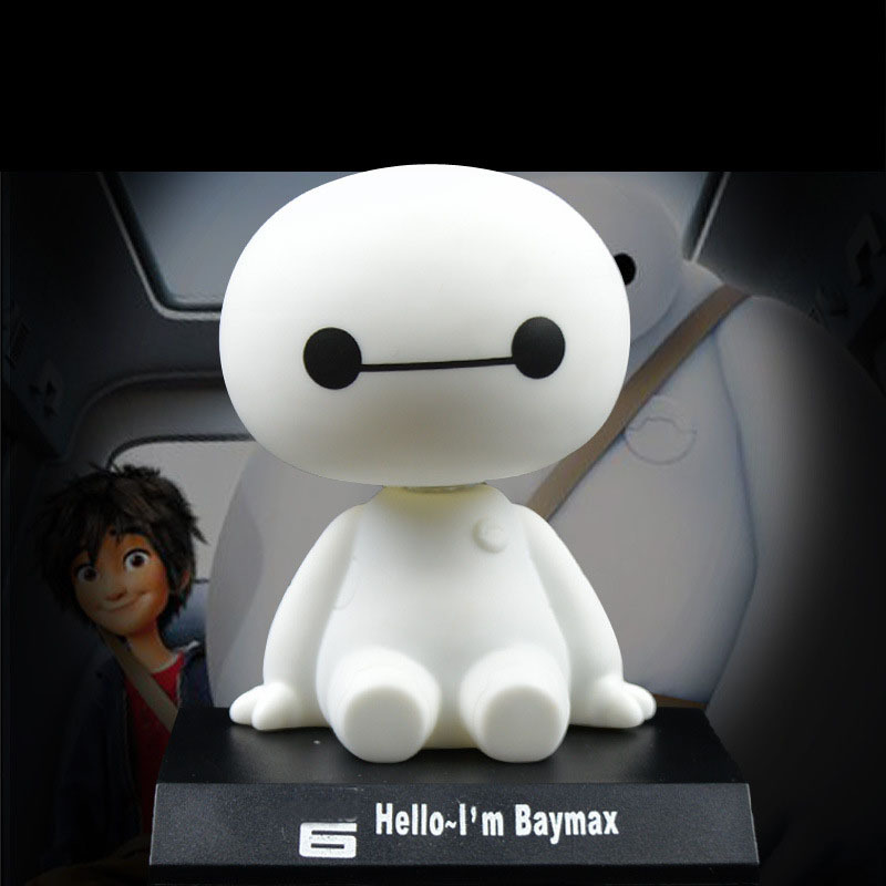 10cm Big Hero Baymax figure font b toys b font Car interior furnishing articles Shook head