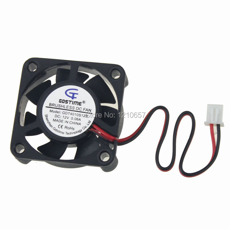 10PCS LOT Gdstime Cooler 40 x 40 x 10mm 4010 2Pin 12V 40mm 4cm DC Computer Case Brushless Cooling Fan gdstime 10 pcs dc 12v 14025 pc case cooling fan 140mm x 25mm 14cm 2 wire 2pin connector computer 140x140x25mm