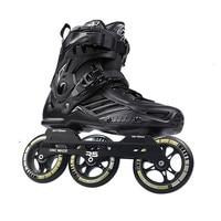 Original RS6 Inline Speed Skates Professional Adult Kids Roller Skating Shoes 3*110mm Wheels Size 35 46 Free Skating Patins