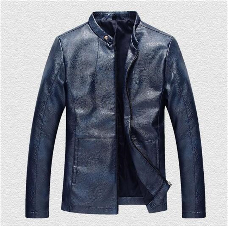 2018 Leather Jacket Men Slim Fit Leather Jackets For Men Motorcycle Leather Jackets Autumn Winter Male Casual Leather Clothing