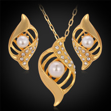 Kpop Luxury Big yellow Gold Color Pendant Earrings Rhinestone Crystal Beads,Gorgeous Fashion Jewelry Set Jewelry For Women S648
