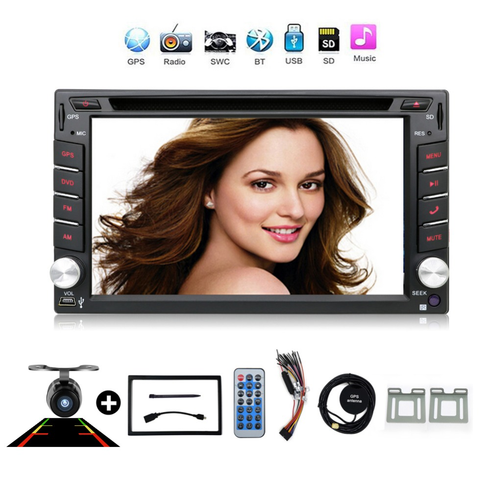 2 din New universal Car Radio Double 2 din Car DVD Player GPS Navigation In dash Car Stereo video Free Map Camera car multimedia цена