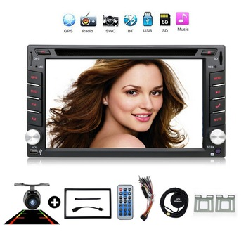 2 din New universal Car Radio Double 2 din Car DVD Player GPS Navigation In dash Car Stereo video Free Map Camera car multimedia image