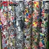 Premium Bomb Vinyl Sticker on Car DIY Graffiti Sticker Bomb Wrap Car Stickers Motorcycle Accessories full car decals Car Styling