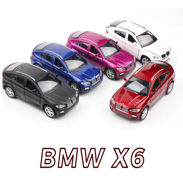 1:32 X6 SUV Coupe Simulation Toy Vehicles Model Alloy Pull Back Children Toys Genuine License Collection Gift Off-Road Car Kids