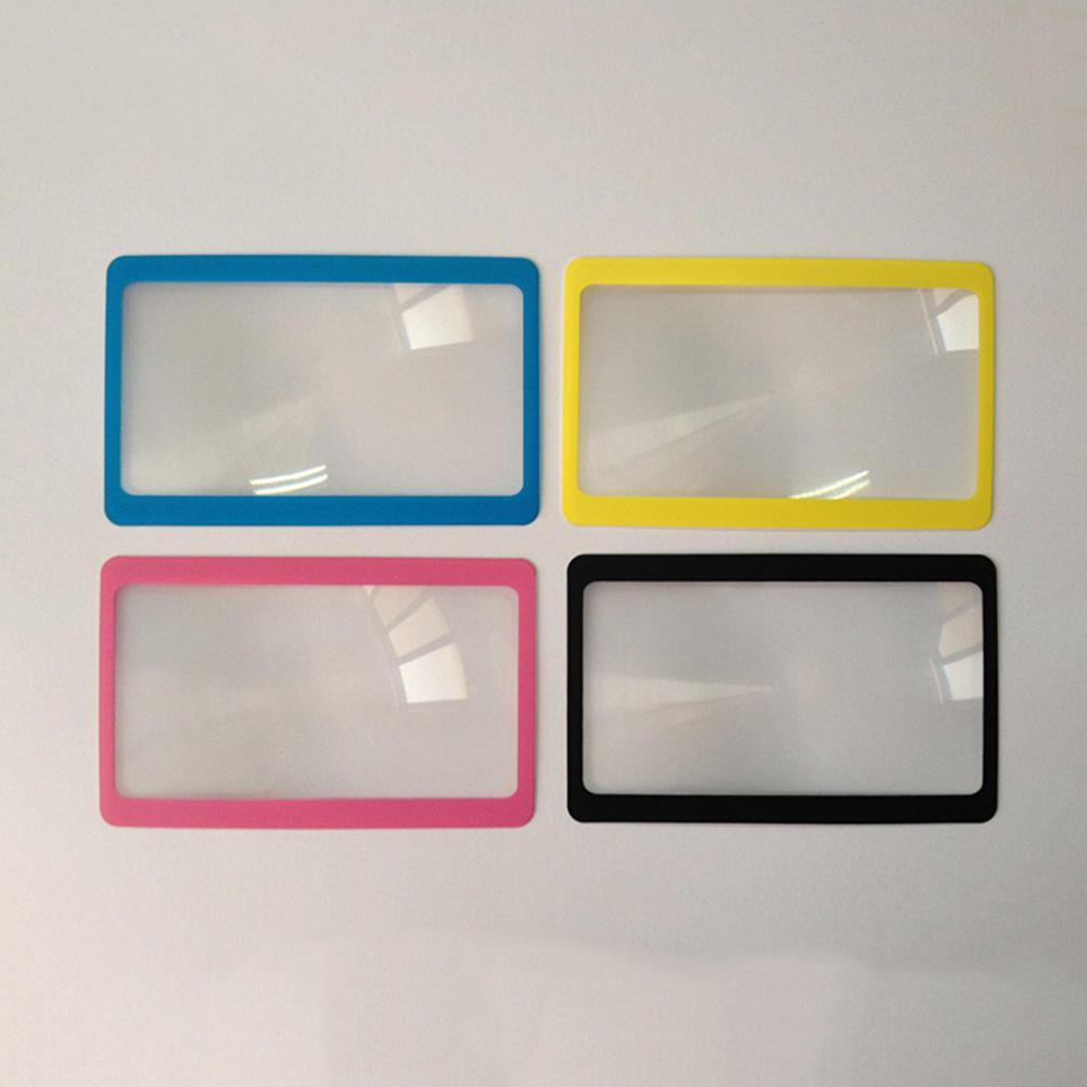 Protable 3 X Magnifier Magnification Magnifying Fresnel LENS Pocket Credit Card Size Transparent Magnifying Glass 8.5*5.5*0.04cm