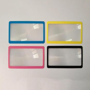 Protable 3 X lupa powiększenie powiększające soczewki fresnela kieszonkowy rozmiar karty kredytowej przezroczyste szkło powiększające 8 5*5 5*0 04cm tanie i dobre opinie ANENG Handheld Brak Z tworzywa sztucznego reading card pocket wallet clip amplify