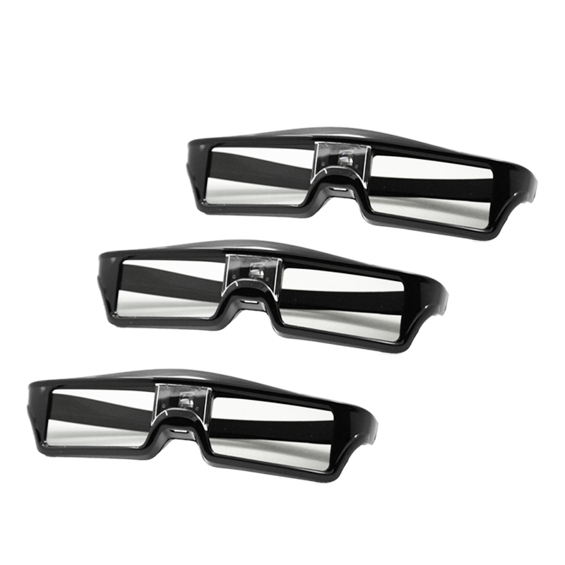 3Pcs/Lots Professional Universal Dlp Link Shutter Active 3D Glasses for 3D Ready Dlp Projector(China)