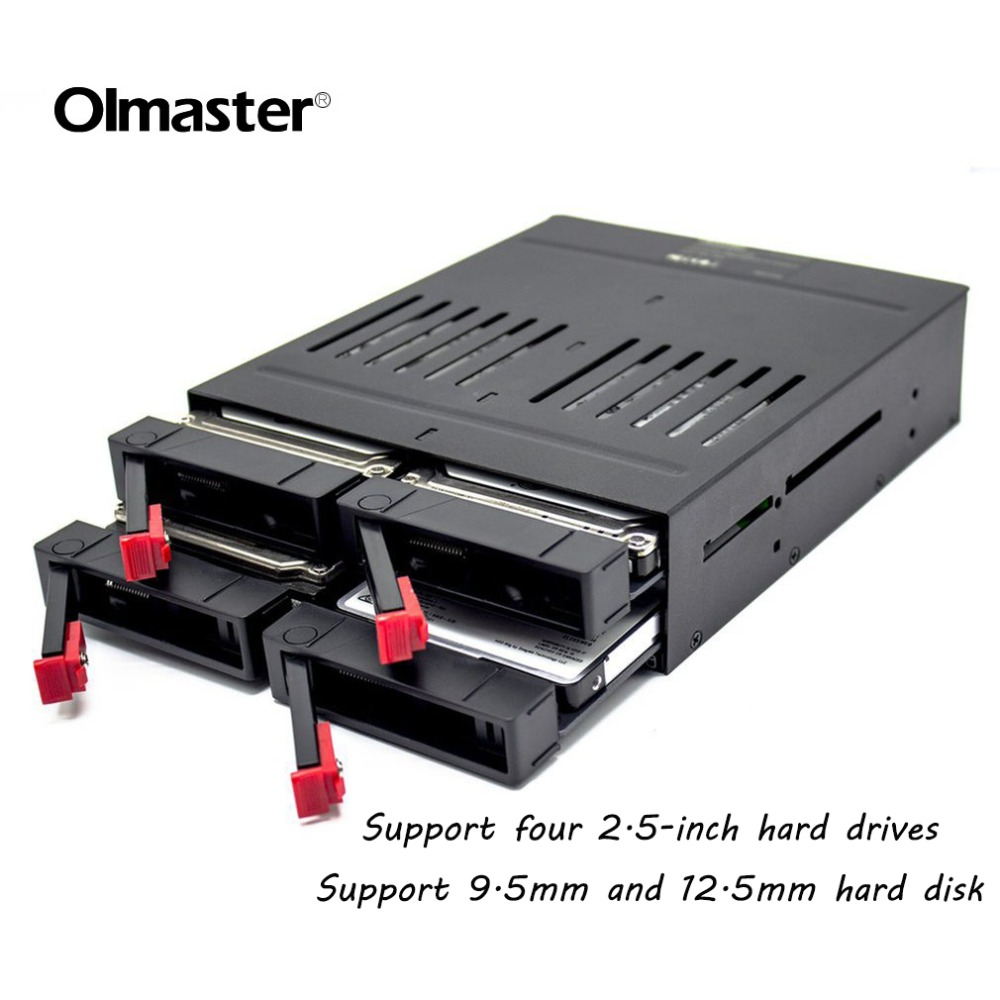 OImaster HE-2006 4 Slots SATA Internal Rack 2.5 Inch Hard Drive Case Internal Mobile Rack With LED Indicator Built-in Fan