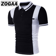 ZOGAA 2019 Summer Mens Polo Shirt Black and White Short-sleeved Silm Fit Casual Young POLO Shirts Clothing