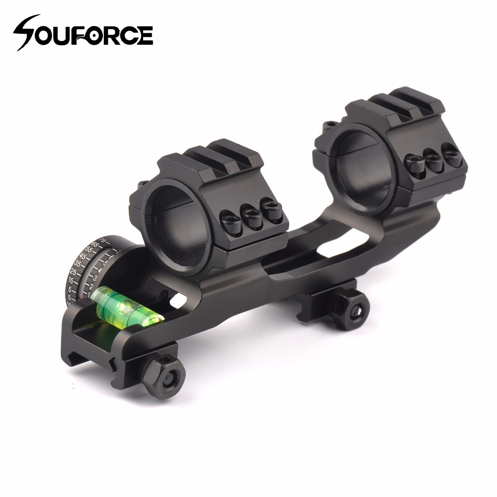 25.4/30mm Scope Ring Base Mount with Angle Indicator and Spirit Buble Level for Hunting Accessories ...