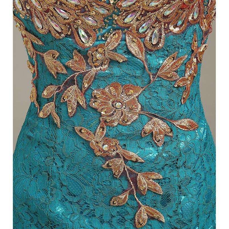 Robe de soirée 2019 col en v perlée longue avec Appliques robes de soirée sirène robes de soirée vestido de festa robes de bal robes de soirée - 6