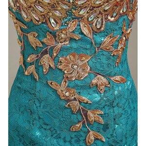 Image 5 - Robe de soiree 2020 V צוואר חרוזים ארוך עם אפליקציות שמלות בת ים ערב שמלות vestido דה festa שמלות נשף מפלגת שמלות