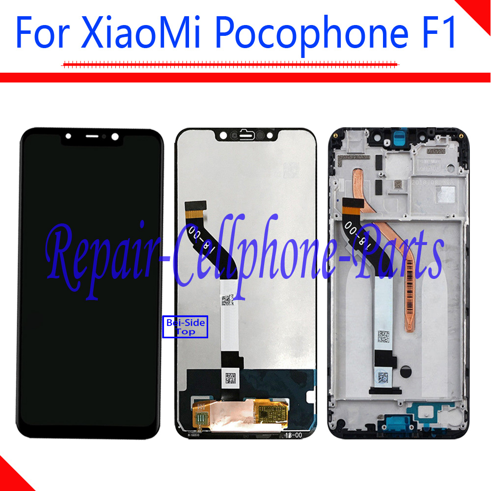 6.18 inch New Full LCD DIsplay + Touch Screen Digitizer Assembly + Frame Cover For Xiaomi Pocophone Poco F1 M1805E10A6.18 inch New Full LCD DIsplay + Touch Screen Digitizer Assembly + Frame Cover For Xiaomi Pocophone Poco F1 M1805E10A