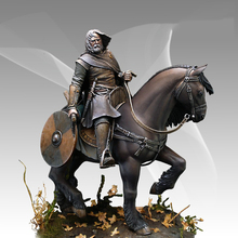 Free Shipping 1/16 Scale Unpainted Resin Figure Knight riding horse