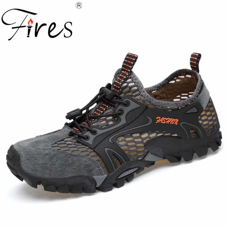 b367feef4bd0 Срабатывает Для мужчин Пеший Туризм обувь для спорта на открытом воздухе  восхождение горные кроссовки из дышащего