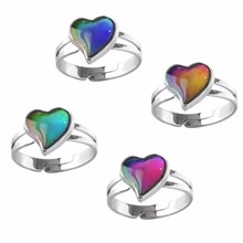 BAND Mood Ring Temperature Emotion Feeling Rings Mood Color Changing Adjustable Size For Women