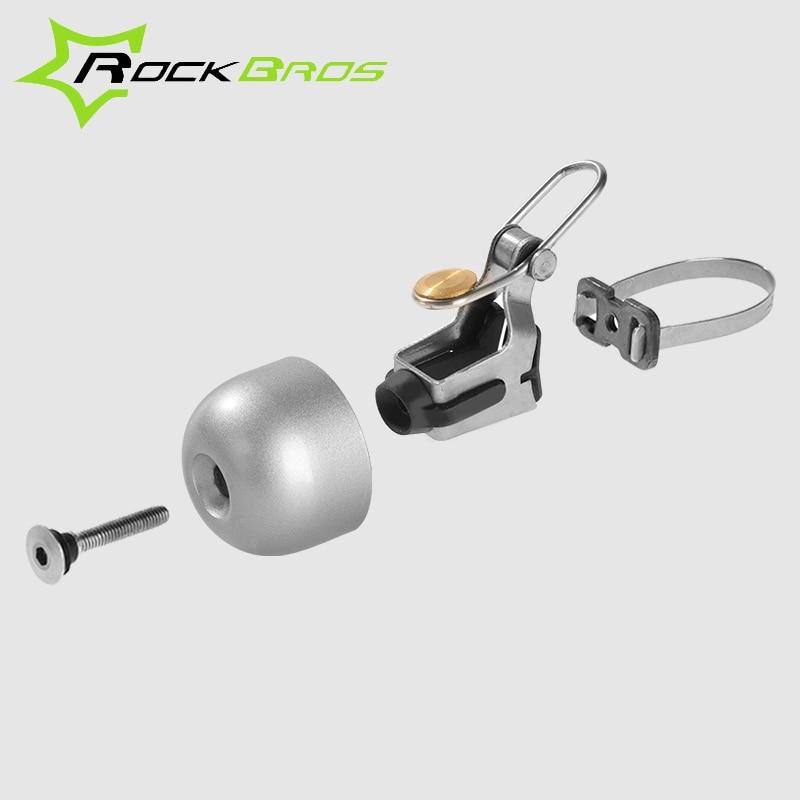 RockBros Bike Vintage Classic  Handlebar Ring Bicycle Retro Bell Bright Silver