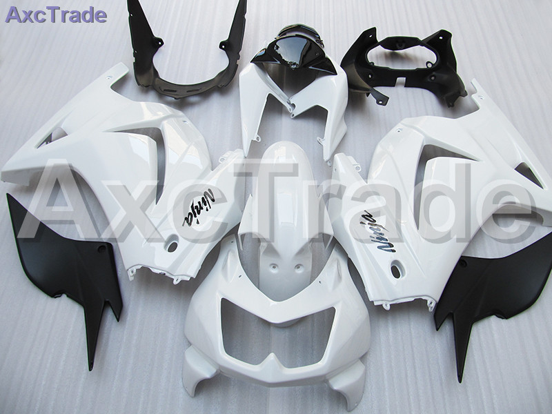 Moto Motorcycle Fairing Kit For Kawasaki Ninja 250 ZX250 EX250 2008-2012 08 - 12 ABS Plastic Fairings fairing-kit White Black motorcycle fairing kit for kawasaki ninja zx10r 2006 2007 zx10r 06 07 zx 10r 06 07 west white black fairings set 7 gifts kd01