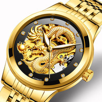 Fngeen Gold Dragon Automatic Mechanical Watch Casual Mens Watches Stainless Steel Top Brand Luxury Business Fashion Watch Men 20