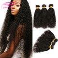 7 AHot yvonne pelo rizado rizado brasileño barato del pelo brasileño 3 paquetes de Belleza armadura brasileña del pelo bundles afro rizado rizado pelo