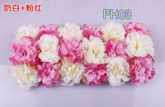Свадебные композиция свадебные искусственные шелковые свадебные розы арки цветок Свадебные украшения цветок ряд цветок кадр 10 шт./лот - Цвет: FH03