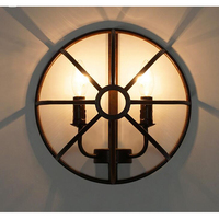 Nordic American Iron Industrial retro wall lamp study bedroom living room dining hallway entrance cafe Light GY239