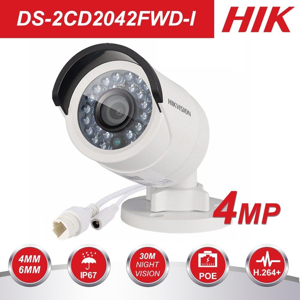 HIK CCTV IP Kamera DS-2CD2042WD-I 4MP Kugel Sicherheit IP Kamera mit POE Netzwerk kamera Sicherheit Kameras Überwachung