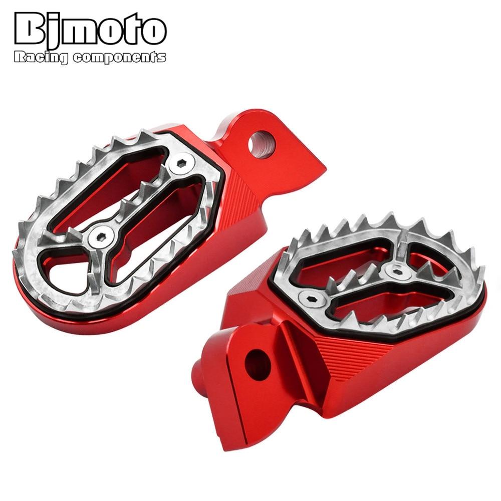 BJMOTO Motorrad Fußrasten CNC Fußstützen Fußrasten Fußrasten Für Yamaha YZ250F WR450F YZ 250 125 85 WR 250F 426F 450F