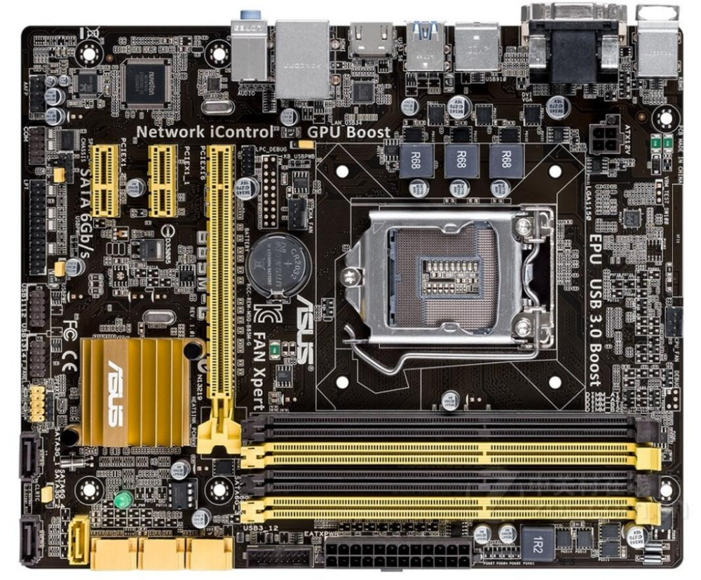 ASUS оригинальная материнская плата для ноутбука B85M-G DDR3 разъем LGA 1150 материнских плат твердотельных integrated
