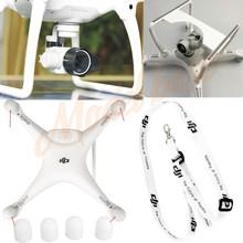 Объектив камеры Капот Вс Cap + Двигатель охранников + Шейный ремешок + 3D печатных Камера Gimbal Гвардии Protector Для DJI Phantom 4 Quadcopter