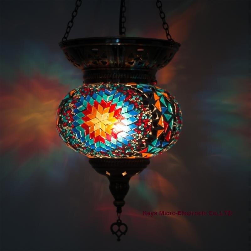 где купить 2016 Newest E14 Turkey ethnic customs handmade lamp romantic cafe restaurant bar tree Pendant Light bar Pendant Light по лучшей цене
