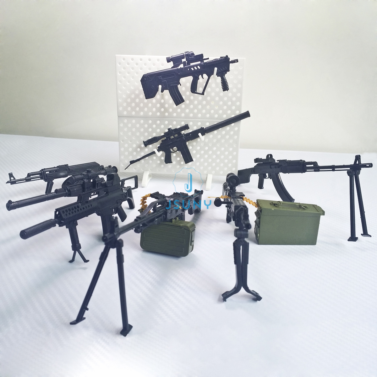 1//6 Middle West Army Action Figures Model Gun Weapon Firearm Set AKM AK47 M16