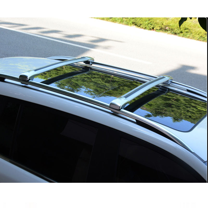 Wholesale aluminum alloy cross bar sliver and black colour roof rack for SANTAFE