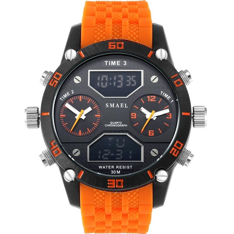 Uhren Digitale Uhren Sanda Uhr Männer Luxus Marke Männer Wasserdichte Quarzuhr Fashion Outdoor Sport Uhr Militär Uhr Relogio Masculino Hell In Farbe