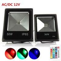 Reflector LED RGB impermeable IP65, 50W, 30W, 20W, 10W, iluminación de paisaje al aire libre, proyector de farola