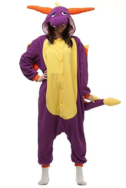 Хэллоуин животных Нарвал Единорог Костюм пижамы Комбинезоны пижамы ...