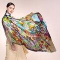 AA01808 оптовые шарфы 100% Шелк печатных шарф натурального шелка креп-сатин большие квадратные шарфы