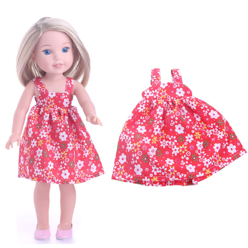 """Doll Clothes 14.5/""""  Skirt Yellow White Sandals Fits 14.5/"""" AG WELLIE WISHER DOLLS"""