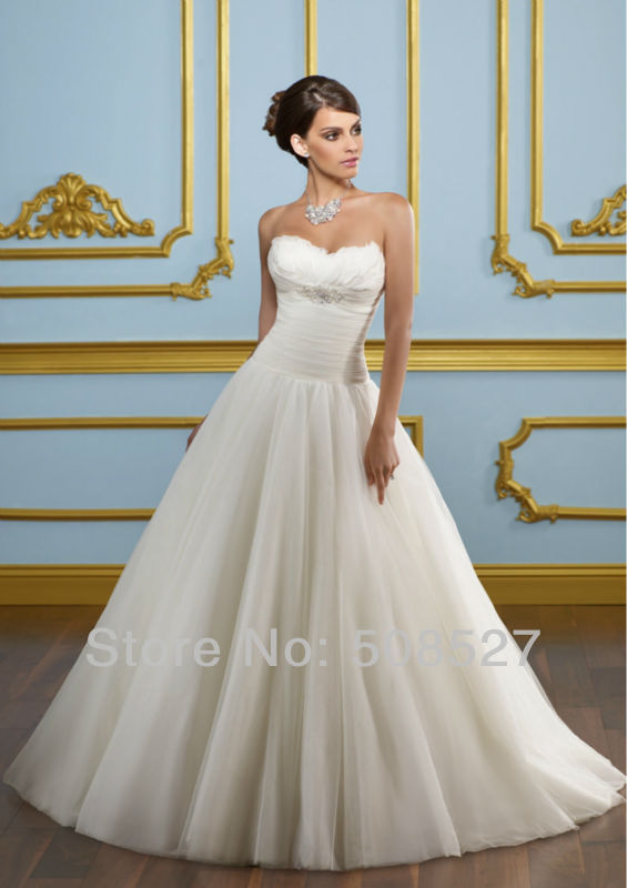 2016 new custom made whiteivory satin tulle pleat beading crystal feather a line