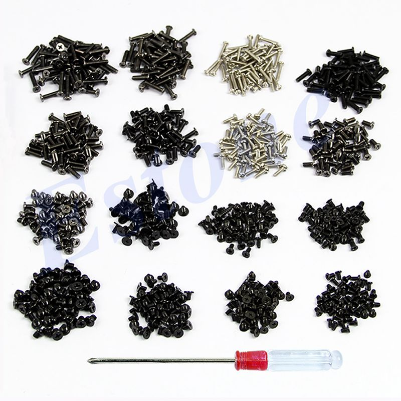 OOTDTY 800pcs Laptop Screws Set + Screwdriver For Toshiba Sony Dell IBM Samsung Lenovo 16 Sizes Screws For Laptop