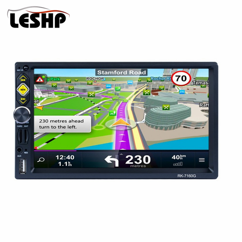 RK-7160G 7 Car MP5 Player Touch Screen Rear View Bluetooth Fast Charge FM/RDS Car Radio HD GPS Navigation Car Multimedia Player
