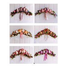 65 cm European-style imitation peony flower lintel decoration home door pendant wedding dress Christmas