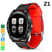 Z1 Bluetooth Smart Watch 1.54 Round Screen with SIM TF Card Clock Camera SmartWatch Wristwatch For Android iOS Phone PK Y1 V9 V8(China)